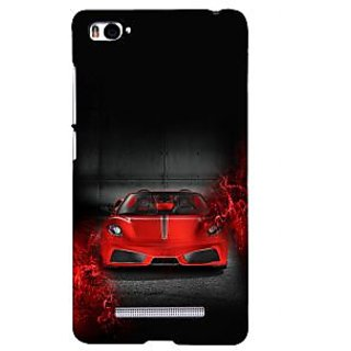 ifasho Stylish RED Car Back Case Cover for Redmi Mi4i