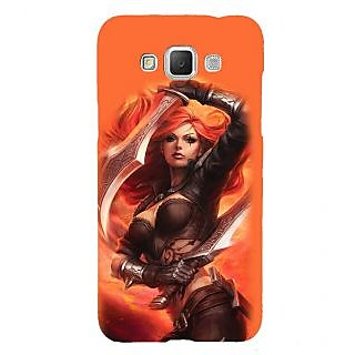 ifasho Girl with blade animated Back Case Cover for Samsung Galaxy Grand Max