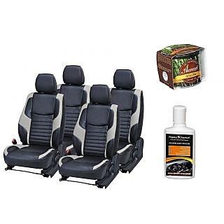 Pegasus Premium Seat Cover for  Honda City With Aerozel Wild Mist Gel Perfume and Dashboard polish