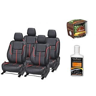 Pegasus Premium Seat Cover for  Ford Figo With Aerozel Wild Mist Gel Perfume and Dashboard polish