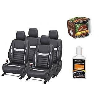 Pegasus Premium Seat Cover for  Hyundai Xcent With Aerozel Wild Mist Gel Perfume and Dashboard polish