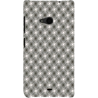 ifasho Animated Pattern Littel Flowers Back Case Cover for Nokia Lumia 535