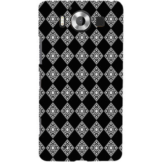 ifasho Modern Theme of royal design in black and white pattern Back Case Cover for Nokia Lumia 950