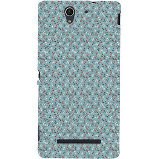 ifasho Modern Art Design Pattern with Lot Of small anchor Back Case Cover for Sony Xperia C3 Dual