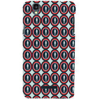 ifasho Animation Clourful Circle Pattern with man inside Back Case Cover for YU Yurekha