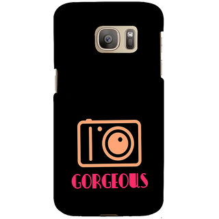 ifasho Being Yourself gorgeous Back Case Cover for Samsung Galaxy S7 Edge