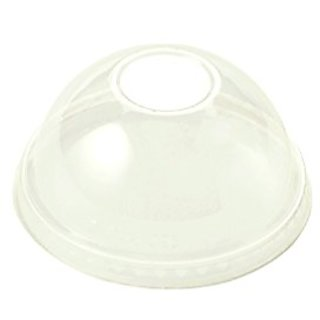 World Centric CPL-CS-12DP Compostable Ingeo Cup Dome Lids, No Hole, 10 oz. - 24 oz., Clear (Pack of 1000)