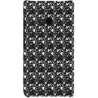 ifasho Modern Art Design Pattern with Lot Of small heart with + sign Back Case Cover for Nokia Lumia 535