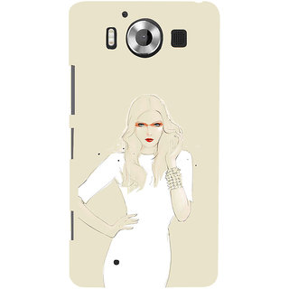 ifasho modern Girl in white dress painting Back Case Cover for Nokia Lumia 950