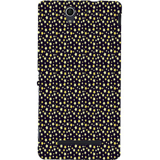 ifasho Animated Pattern colourful littel stars Back Case Cover for Sony Xperia C3 Dual