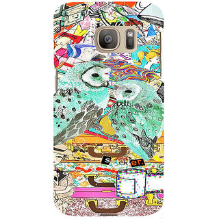 ifasho Girls and owl Back Case Cover for Samsung Galaxy S7 Edge