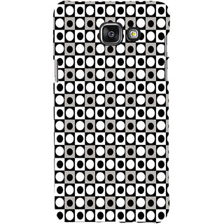 ifasho Modern Theme of black and white dots inside Square Back Case Cover for Samsung Galaxy A5 A510 (2016 Edition)