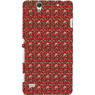 ifasho Modern Art Design animated cloth Pattern of flower Back Case Cover for Sony Xperia C4
