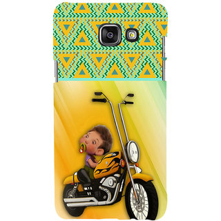ifasho baby riding bike animated design Back Case Cover for Samsung Galaxy A5 A510 (2016 Edition)