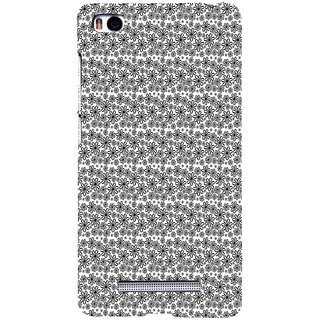 ifasho Animated Pattern black and white flower Back Case Cover for Redmi Mi4i