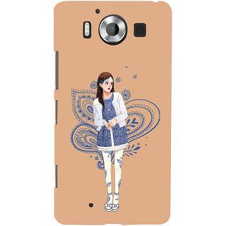 ifasho Beautiful Girl Back Case Cover for Nokia Lumia 950