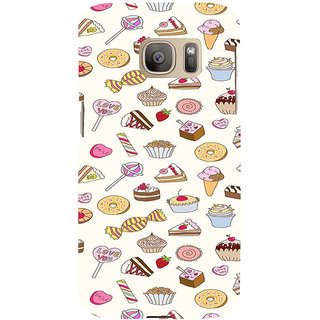 ifasho Animated food pattern Back Case Cover for Samsung Galaxy S7 Edge