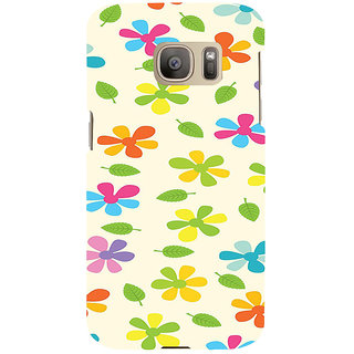 ifasho Animated Pattern flower with leaves Back Case Cover for Samsung Galaxy S7 Edge