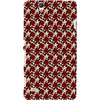 ifasho Animated Pattern rose flower with leaves Back Case Cover for Sony Xperia C4