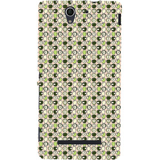 ifasho Animated Pattern design many small apple full and half Back Case Cover for Sony Xperia C3 Dual