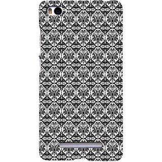 ifasho Animated Pattern design black and white flower in royal style Back Case Cover for Redmi Mi4i