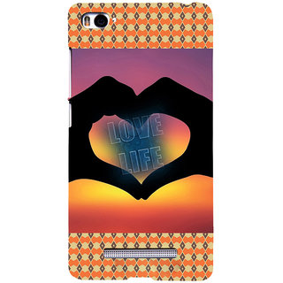 ifasho Love life heart shape made by hand  Back Case Cover for Redmi Mi4i