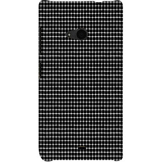 ifasho Animated Pattern  equal size Circle black and white Back Case Cover for Nokia Lumia 535