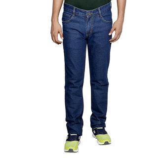 IndiWeaves Men's Blue Regular Fit Jeans