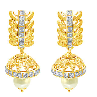 Spargz Party Wear Gold Plating AD Stone Jhumka Earring For Women AIER 665