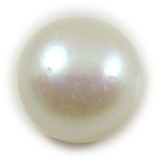 3 Ratti 2.75 Carat Natural Pearl Moti Round Shape Loose Gemstone For Astrological Purpose