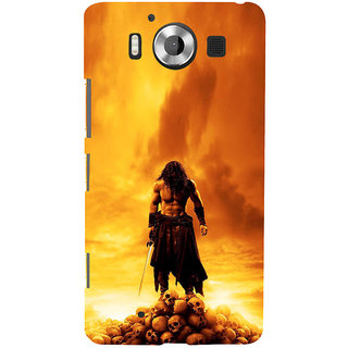 ifasho Modern Art Design animated man with skeleton Back Case Cover for Nokia Lumia 950