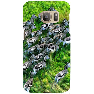 ifasho Zebra with S3Dipes Back Case Cover for Samsung Galaxy S7 Edge