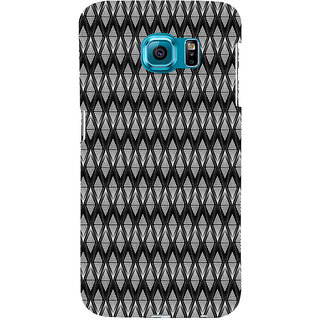 ifasho Animated Pattern design black and white diamond in royal style Back Case Cover for Samsung Galaxy S6 Edge Plus