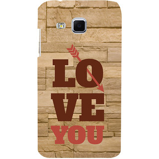 ifasho Quote On Love you and me Back Case Cover for Samsung Galaxy J3