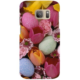 ifasho Bunch of Diffrent Flower Back Case Cover for Samsung Galaxy S7 Edge