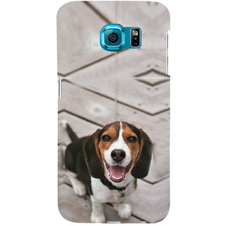ifasho Grey Dog Back Case Cover for Samsung Galaxy S6 Edge Plus