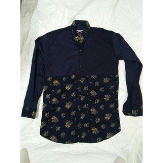 Black Long Sleeve Check Shirt