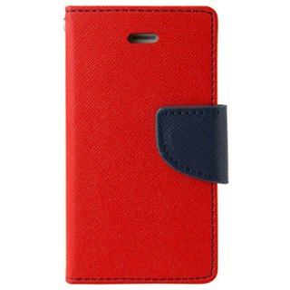 Mercury Wallet Flip case Cover For Sony Xperia T2  (RED)
