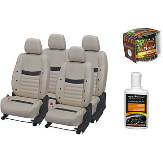 Pegasus Premium Seat Cover for  Skoda Rapid With Aerozel Wild Mist Gel Perfume and Dashboard polish