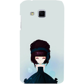 ifasho Cute Girl with Ribbon in Hair Back Case Cover for Samsung Galaxy J3