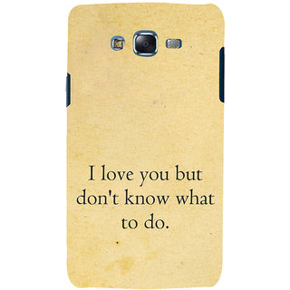 ifasho Love Quotes I love you Back Case Cover for Samsung Galaxy J7 (2016)