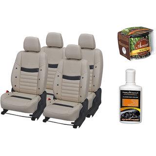 Pegasus Premium Seat Cover for  Tata Safari Storme With Aerozel Wild Mist Gel Perfume and Dashboard polish