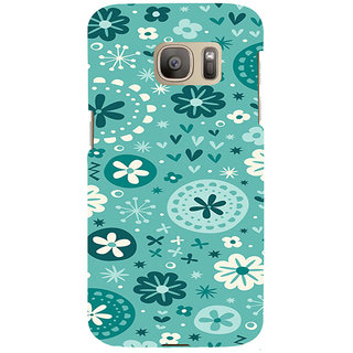 ifasho Modern Art Design animated cloth Pattern of flower Back Case Cover for Samsung Galaxy S7 Edge