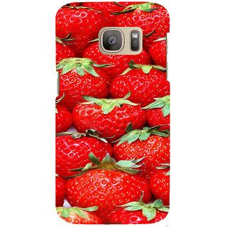 ifasho Modern  Design Pattern S3Dwberry wall paper Back Case Cover for Samsung Galaxy S7 Edge