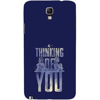 ifasho Thinking of you Back Case Cover for Samsung Galaxy Note3 Neo