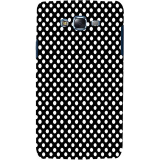 ifasho Modern Theme of white dots in black background Back Case Cover for Samsung Galaxy J7 (2016)