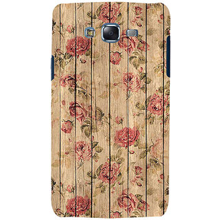 ifasho Modern Art Design painted flower on wood Back Case Cover for Samsung Galaxy J7 (2016)