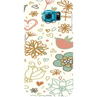 ifasho Animated Pattern colrful design cartoon flower with leaves Back Case Cover for Samsung Galaxy S6 Edge Plus