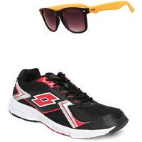 Lotto Vector Black And Red Sport Running Shoes F5R4263-3620 - 100604534