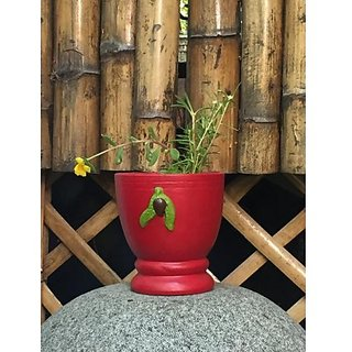 Cup shaped pot painted